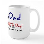 Happy Father's Day Step-Dad 1 - Large Mug Mugs