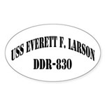 USS EVERETT F. LARSON Sticker (Oval)