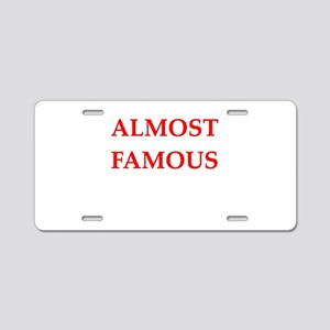 almost Aluminum License Plate