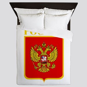 Russian Federation COA Queen Duvet