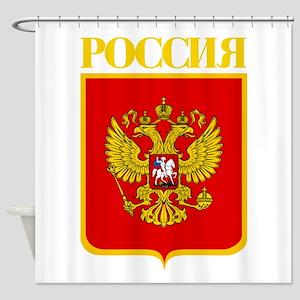 Russian Federation COA Shower Curtain