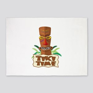 Tiki Time 5'x7'Area Rug