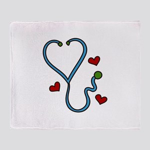 Stethoscope Throw Blanket
