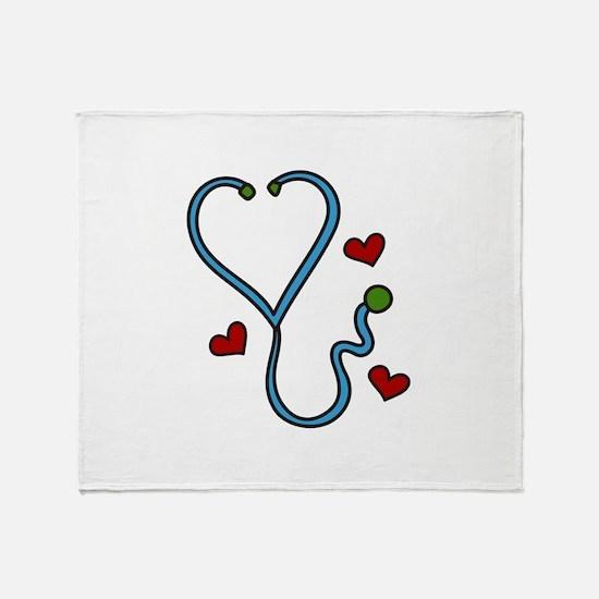 Stethoscope Throw Blanket
