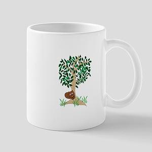 Squirrel In Tree Mugs