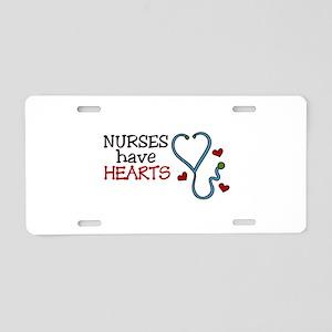 Nurses Have Hearts Aluminum License Plate