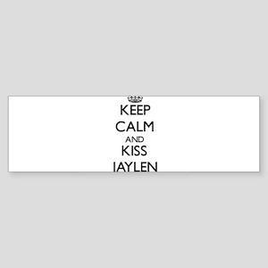 Keep Calm and Kiss Jaylen Bumper Sticker