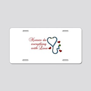With Love Aluminum License Plate
