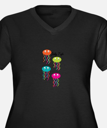 Jelly Fish Plus Size T-Shirt