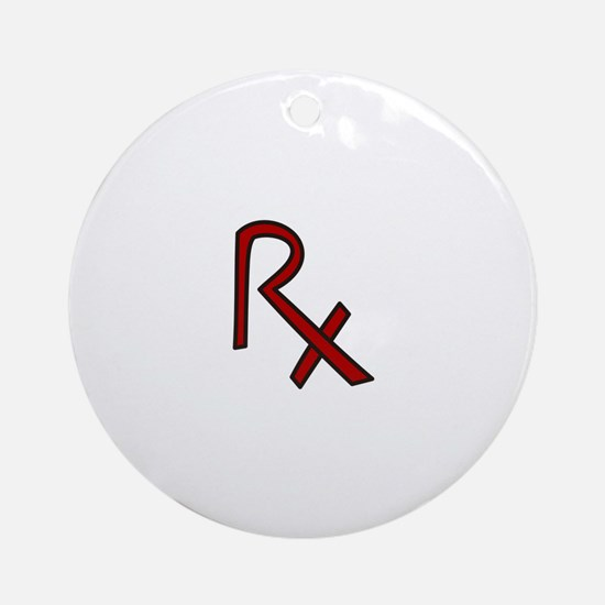 RX Pharmacist Ornament (Round)