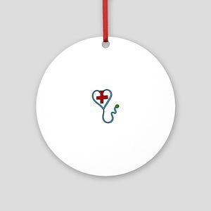 Stethoscope Ornament (Round)
