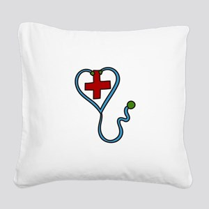 Stethoscope Square Canvas Pillow