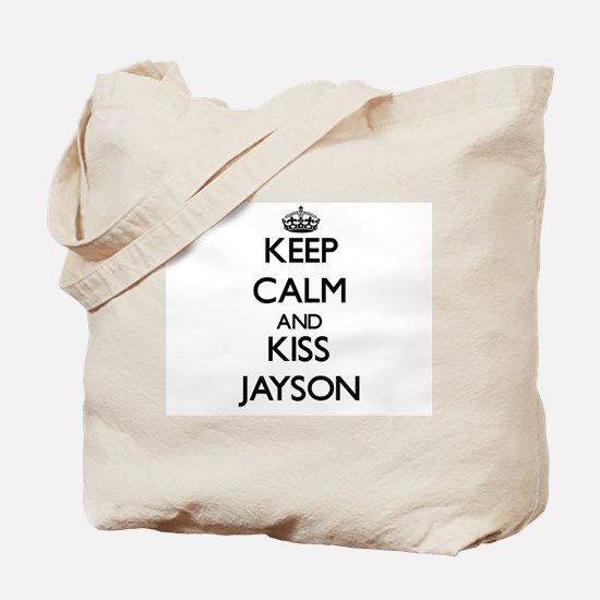 Keep Calm and Kiss Jayson Tote Bag