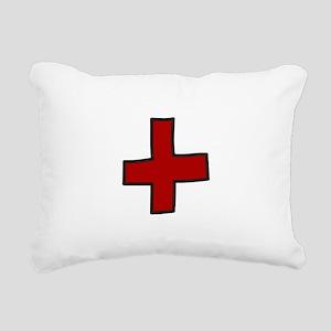 Red Cross Rectangular Canvas Pillow