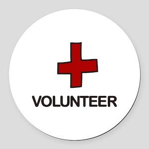 Volunteer Round Car Magnet