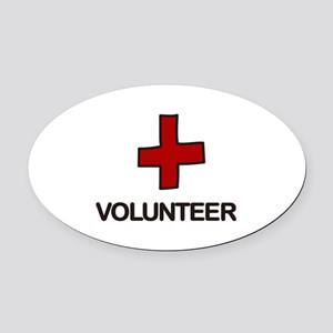 Volunteer Oval Car Magnet