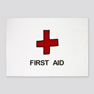 First Aid 5'x7'Area Rug