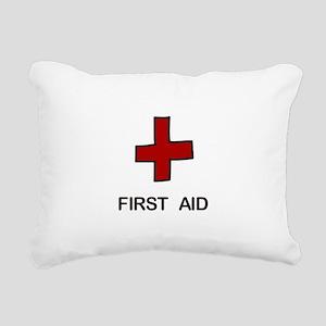 First Aid Rectangular Canvas Pillow