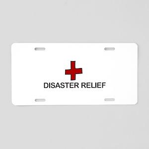Disaster Relief Aluminum License Plate