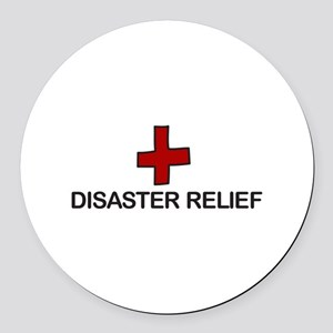 Disaster Relief Round Car Magnet