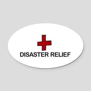 Disaster Relief Oval Car Magnet
