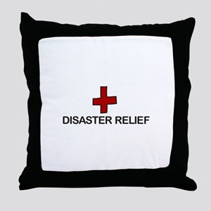 Disaster Relief Throw Pillow