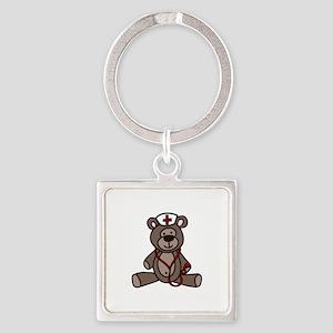 Nurse Teddy Bear Keychains