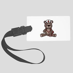 Nurse Teddy Bear Luggage Tag