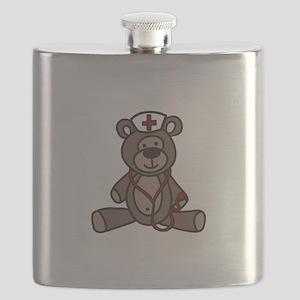 Nurse Teddy Bear Flask