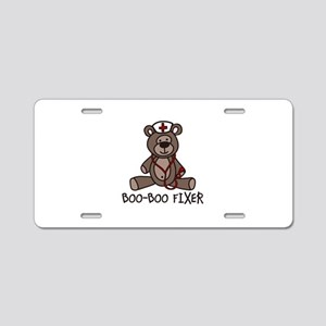 Boo Boo Fixer Aluminum License Plate