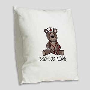 Boo Boo Fixer Burlap Throw Pillow