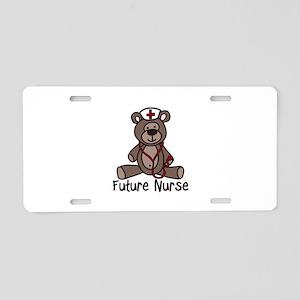 Future Nurse Aluminum License Plate