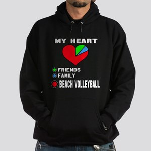 My Heart Friends, Family and Beach V Hoodie (dark)