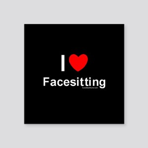 "Facesitting Square Sticker 3"" x 3"""