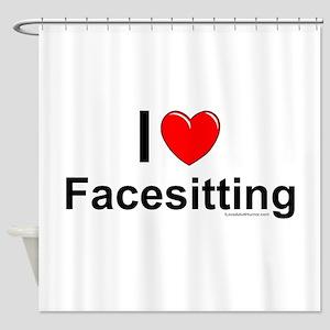 Facesitting Shower Curtain