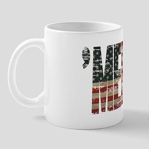 Vintage Distressed Merica Flag Mugs