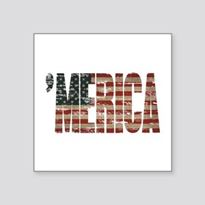 Vintage Distressed MERICA Flag Sticker