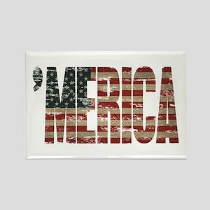 Vintage Distressed MERICA Flag Magnets