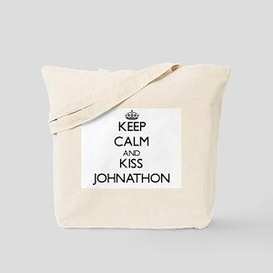 Keep Calm and Kiss Johnathon Tote Bag