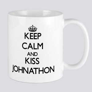Keep Calm and Kiss Johnathon Mugs