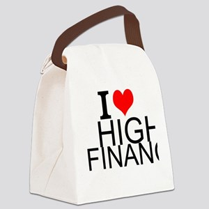 I Love High Finance Canvas Lunch Bag