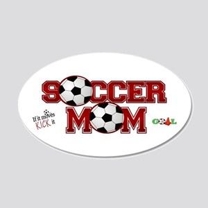 Soccer Mom 20x12 Oval Wall Decal