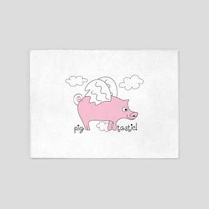 Pig Tastic! 5'x7'Area Rug