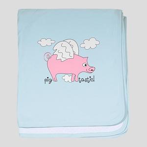 Pig Tastic! baby blanket