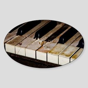 Vintage Piano  Sticker (Oval)