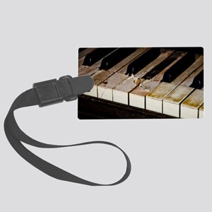 Vintage Piano  Large Luggage Tag