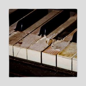 Vintage Piano Keys Queen Duvet