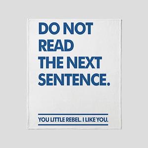 Little Rebel Throw Blanket