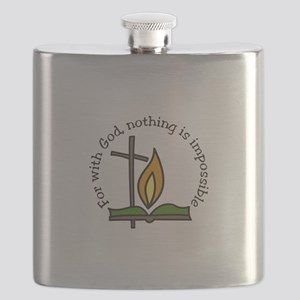 For With God, nothing is impossible Flask