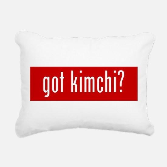 got kimchi? Rectangular Canvas Pillow